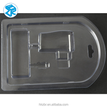 Heat Sealed Blister Packing With Paper Card inset USB blister clamshell packing tray