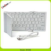Portable folding bluetooth wireless keyboard for iPhone 6S, For samsung BK099