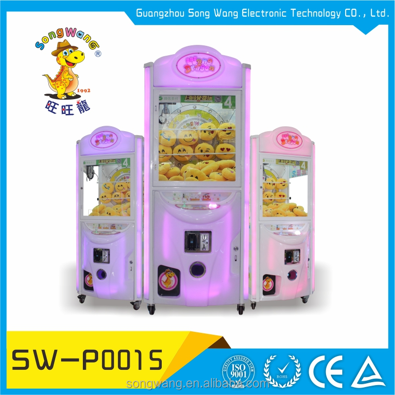 song wang designer compact structure coin operated doll crane gaming machine