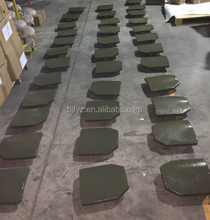 NIJ IV silicon carbide bulletproof plate painted green polyurethane