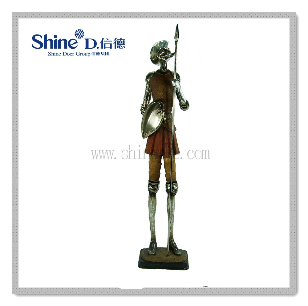 Quixote statue fairy figurine knight sculpture for home decoration