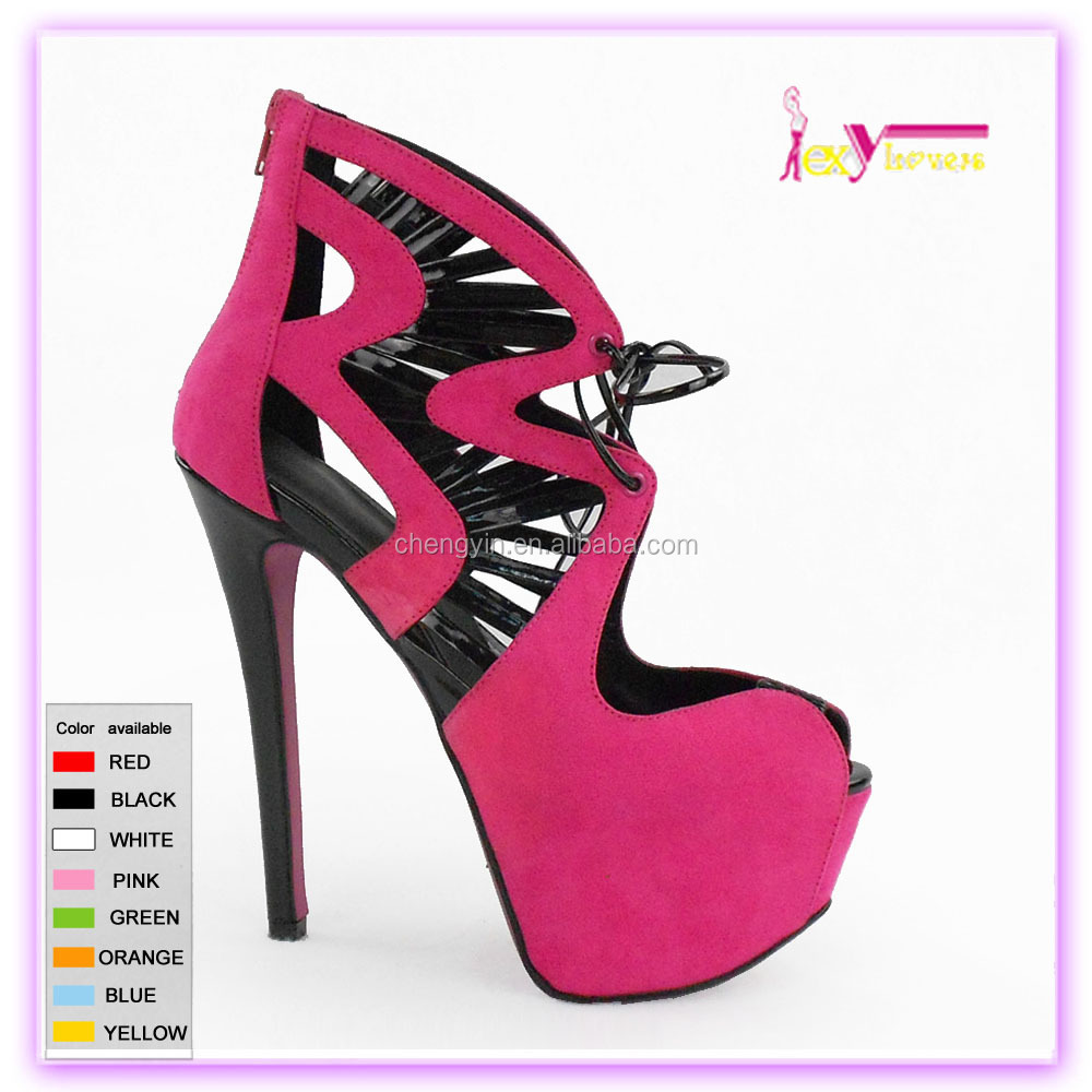 over 12cm very high heels platform shoes ladies display design fair women shoes