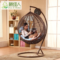 Hotsale Outdoor Plastic Synthetic Resin Rattan Wicker Garden Swing Chair
