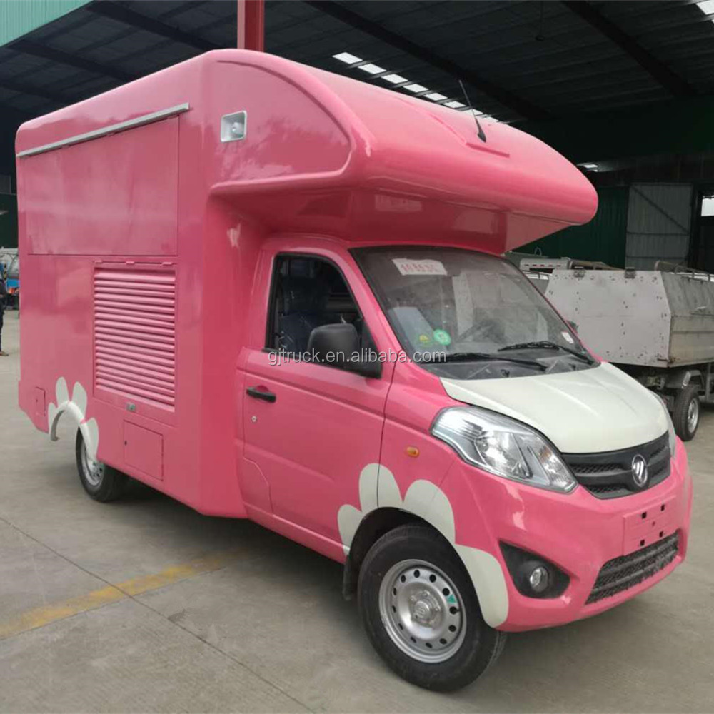 china famous foton best price ice cream truck mobile food truck for sale