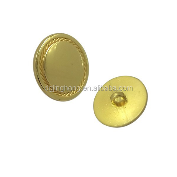 Shining metal buttons cheap custom designer coat buttons