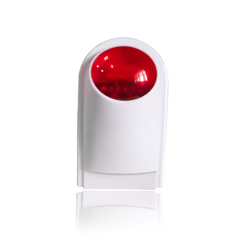 Outdoor home security siren with red flash light 110db for home security alarm system