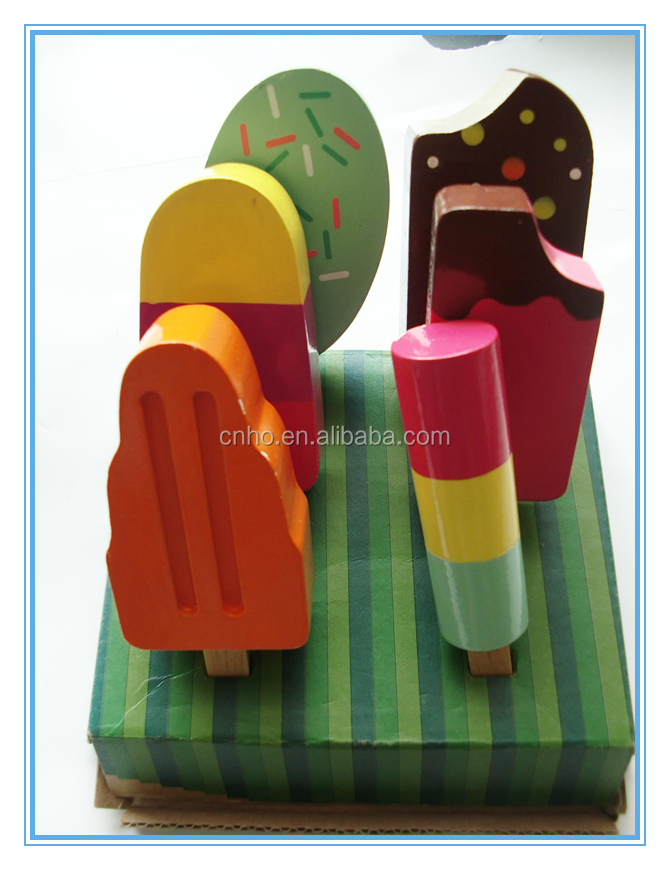 hot sale wooden ice cream playing stand mini food toys