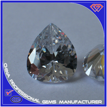 Manufacturer for pear shape Cubic Zirconia with different colors and sizes