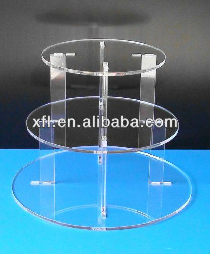 New Invention Magnetic Acrylic Stand, clear acrylic cake display / stand