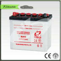 Rechargeable dry charged auto battery n40 12v 40ah