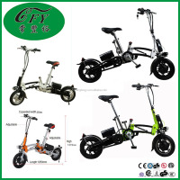 China Supplier 12 Inch 36V 8.8 AH Lithium Battery Aluminum Alloy Folding Electric Bike 250w
