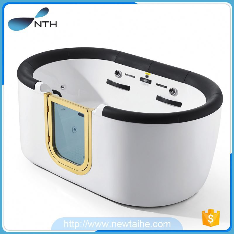 NTH new hot selling products traditional shower room oblong bath tub with hydro massage with door
