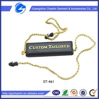 garment clothing apparel embossed plating plastic key label plastic key tags plastic label