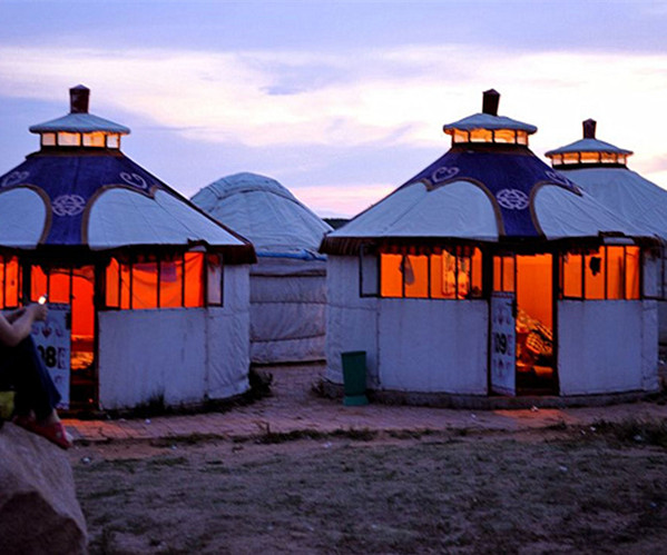 Winter Yurt Luxury Mongolian Tent Used For Outdoor Camping