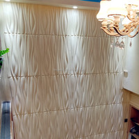 High gloss wall panels healthy 3d hand carved wood