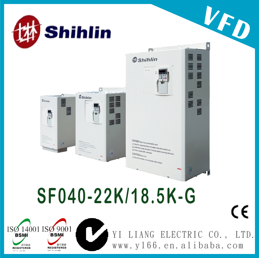 SF040-22K/18.5K-G 30HP Taiwan three phase dual-load high performance vector control inverter 440V power inverter