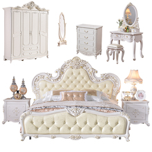 Luxury Antique Home Wooden Carved King Size Bedroom <strong>Furniture</strong>