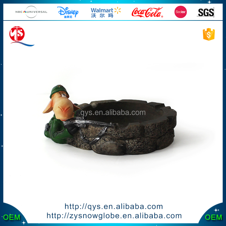 Strange Animal Ashtray Resin Statue for The Resin Cartoon Ashtray Figurine