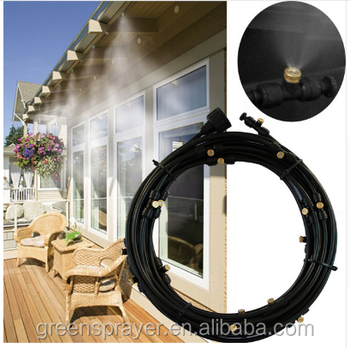 1/4 inch PE pipe Low pressure Garden Cooling system mist water cooling system