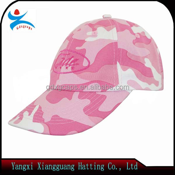 Hot selling embroidery women custom military cap manufacturer/ pink color hat