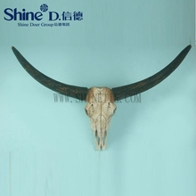 Bull Horns Steer Longhorn buffalo Skull animal wall sculpture