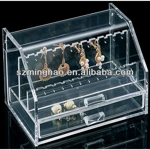 clear acrylic earring display box