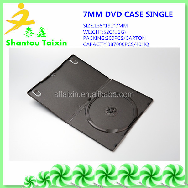 7mm/5mm/9mm/14mm black double plastic cd dvd cover