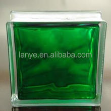 inner green cloudy glass block