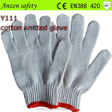 high quality cotton work glove en388 4343 for industrial use