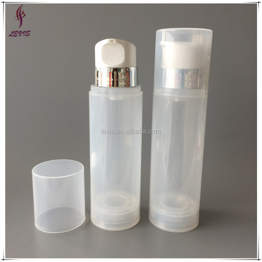 Skin care plastic airless cosmetic pump bottle 250ml