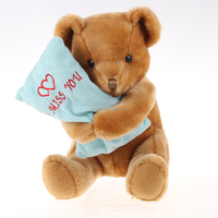 China factory plush soft toy brown teddy bear with pillow toy yangzhou