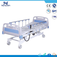 Hot sale 3 function electric hospital bed with cheap price, linak actuator