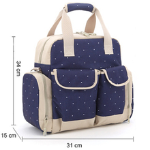 Large Capacity 4 in 1 Canvas Material Disposable Nappy Bag Hanging Diaper Backpack Bag for Mummy