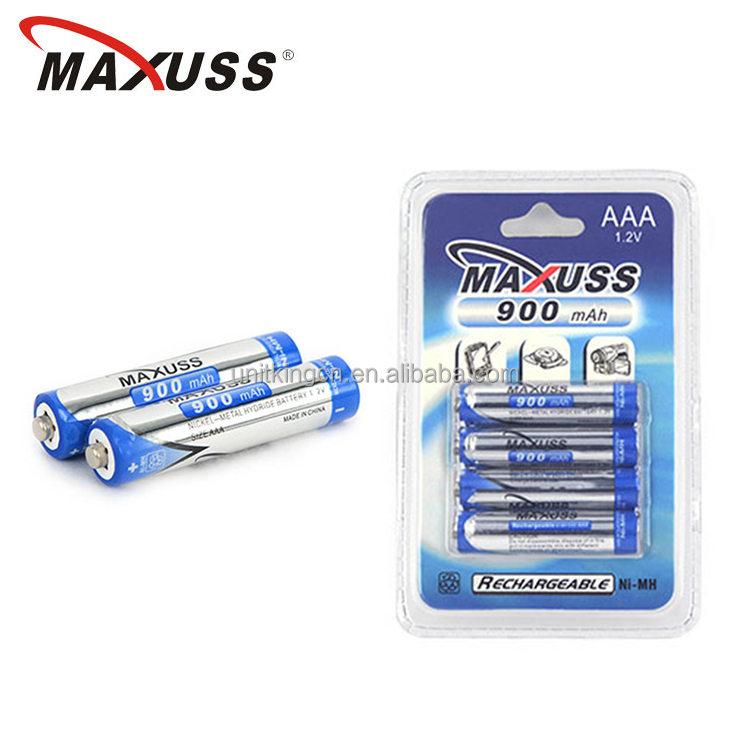 No memory effect 1.2V 900mAh Ni-MH AAA battery rechargeable cell for shaver