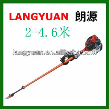 Petrol saw hand tree cutter/ Gas Magnesium alloy Extendable tree pruning saw Pole chainsaw (2M-4.5M)