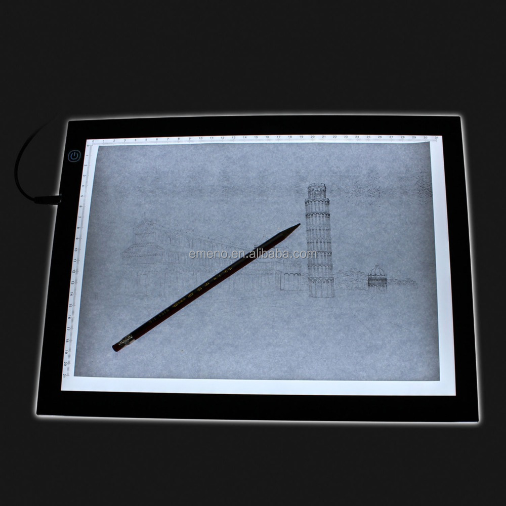 Black Frame LED PMMA Crystal Magnetic Tracing Light Box