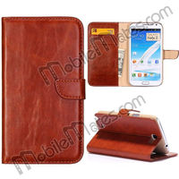 Book Cover Wallet Style Leather Flip Case for Samsung N7100 GALAXY Note 2 II