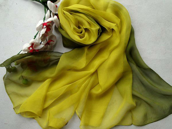 high Quality chiffon 100 pure silk scarf women