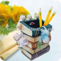 Hand Painted Poly Pen Pencil Holder Container