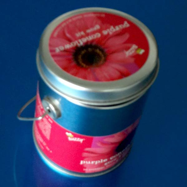 round tea tin can ,round tea tin box