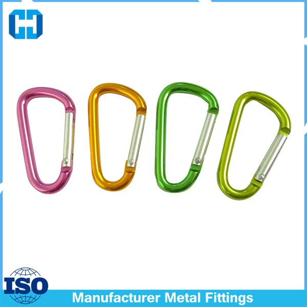 Custom Color Aluminum Carabiners Karabiner For Gift Fittings