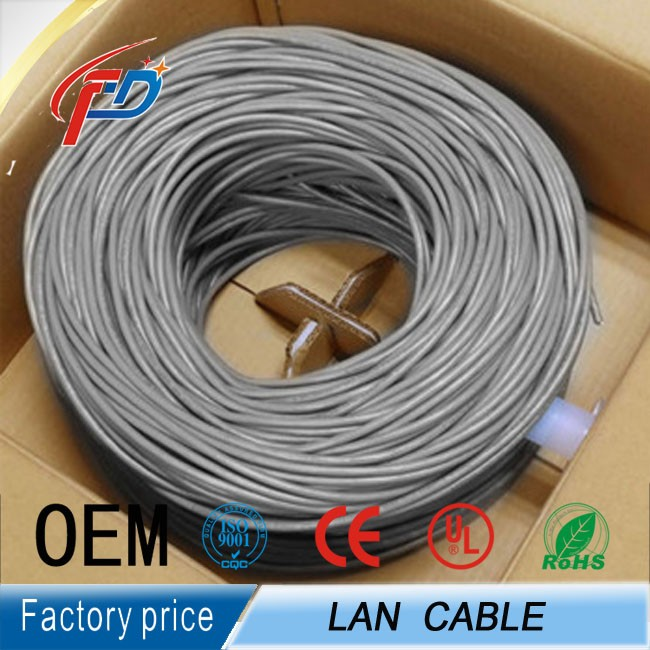 solid 4p 24awg 1000m utp cat5e lan cable