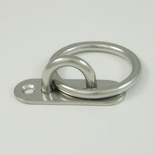 Stainless Steel 316 Oblong Pad Eye With Round Ring