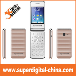 Flip phone 2.8inch TFT Color Display Screen Support Dual SIM Card 0.3MP Camera FM Bluetooth