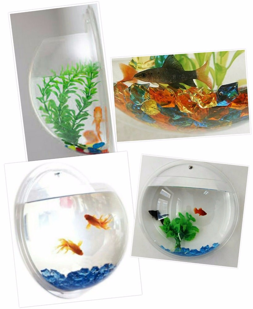 Eco friendly material mini plastic fish bowl small acrylic for Acrylic fish bowl