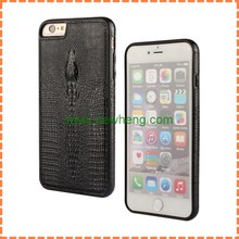 High Quality Crocodile Pattern Leather Case for iphone6, crocodile leather back cover case for iphone6