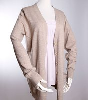 ladies modal cashmere blended sweaters knitwear cardigan fine gauge sweater SWT-L1107