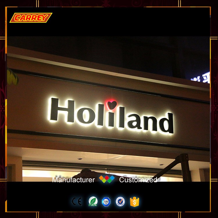China led light up letters advertising backlit sign