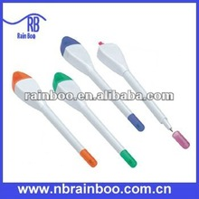 Hot selling novelty popular plastic ball point pen with highlighter