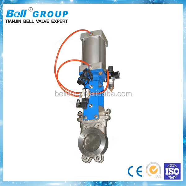 12 Inch SS304 Pneumatic Knife Gate Valve